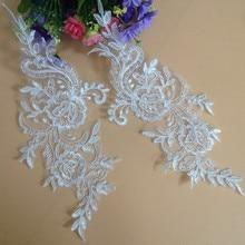 10Pieces 2017 Fashion Lace Applique Headwear Flower Lady Motif Venise Trim Wedding Dress Garment Accessories DIY Sewing