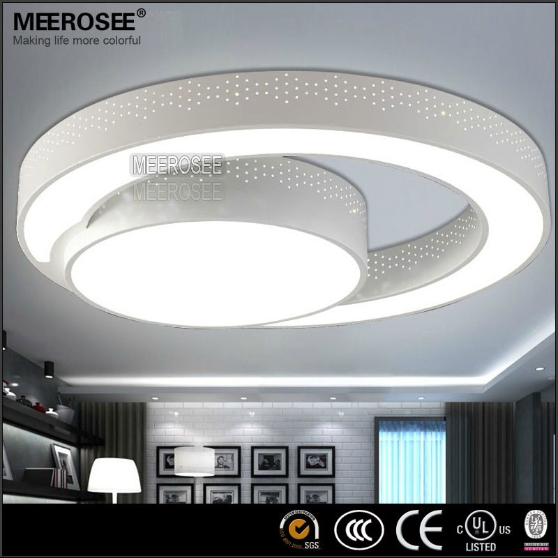 Modern LED Ceiling Light fixture Flush mounted Acrylic Ring Light