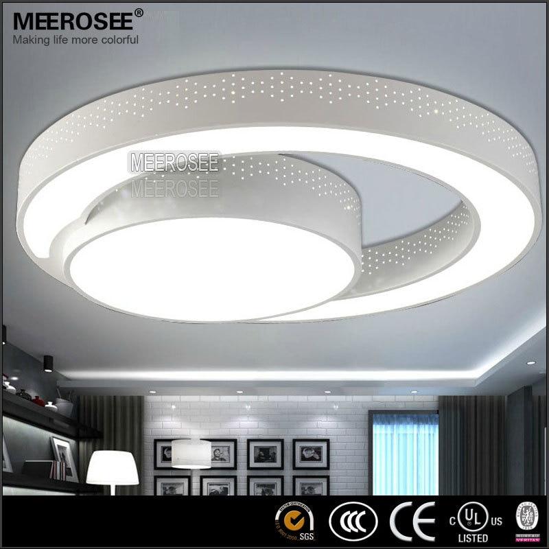 modern led ceiling light fixture flush mounted acrylic ring light lustres ceiling lighting 2 rings led lampin ceiling lights from lights u0026 lighting on