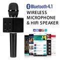 Q7 Pro Black Беспроводная мини Микрофон Karaoke player Party главная КТВ Пение Запись Q7 Bluetooth Динамик Для IPhone Android