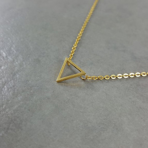Geometric Triangle Charm Stain