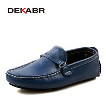 DEKABR PU Leather Men Casual Shoes Classic 2019 Mens Loafers Moccasins