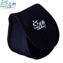 Carretel de pesca saco 11.5*13.5*8.5cm neoprene capa protetora caso para fiação bobina carpa acessórios de pesca alta qualidade carretel saco