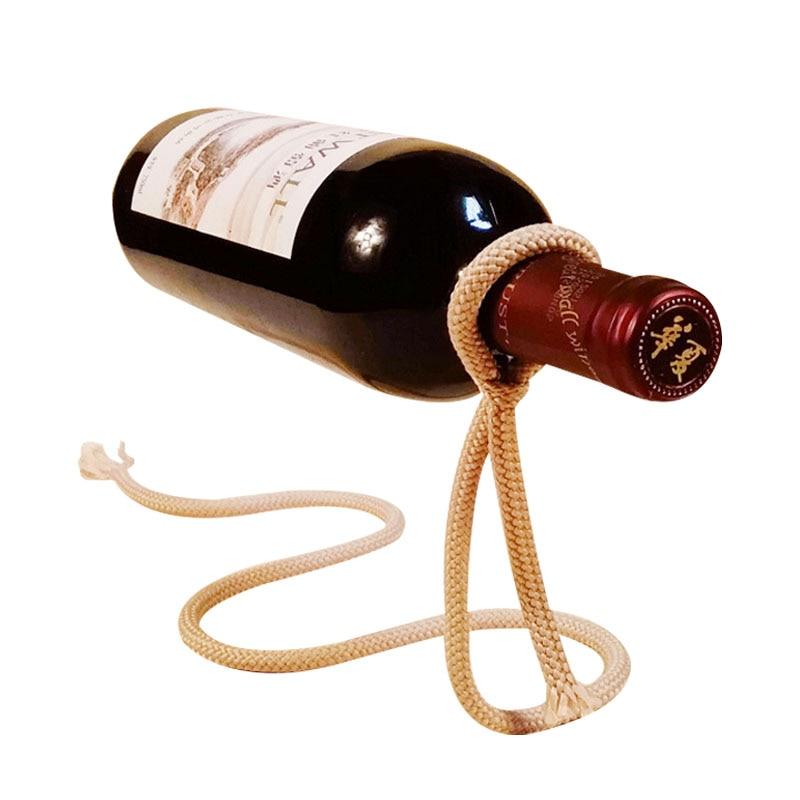 L'europe Vintage Magique Corde Fer Vin Plateau Ornements Figurine Artisanat De Bureau Casier à Vin Miniature Décoration de La Maison Accessoires Cadeaux dans Figurines et Miniatures de Maison & Jardin