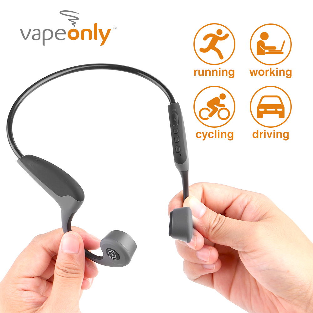 Vapeonly Bluetooth 5.0 S.Wear Z8 Wireless Headphones Bone Conduction Earphone Outdoor Sport Headset W/ Mic Handsfree Headsets