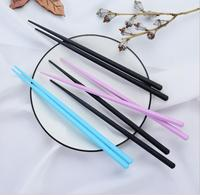 Japanese sushi hashi chopsticks long alloy sticks household kitchen anti resable black chop sticks 100pair/lot DHL free shipping