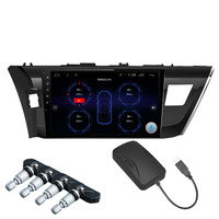Car TPMS Android Tire Pressure Monitoring System With 4 Internal Sensors For OS DVD Player Tyre
