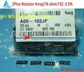 (200 шт./лот) (резисторы массива   A05) A05-102J DIP резисторная матрица сети, 1/8 Вт 5Pin 1K ohm 102 5%
