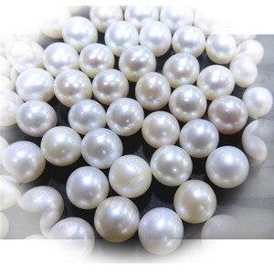Image 4 - MADALENA SARARA A + Grade Süßwasser Perle Runde Natürliche Weiß Helligkeit Luxus Perle Perle Für DIY Herstellung