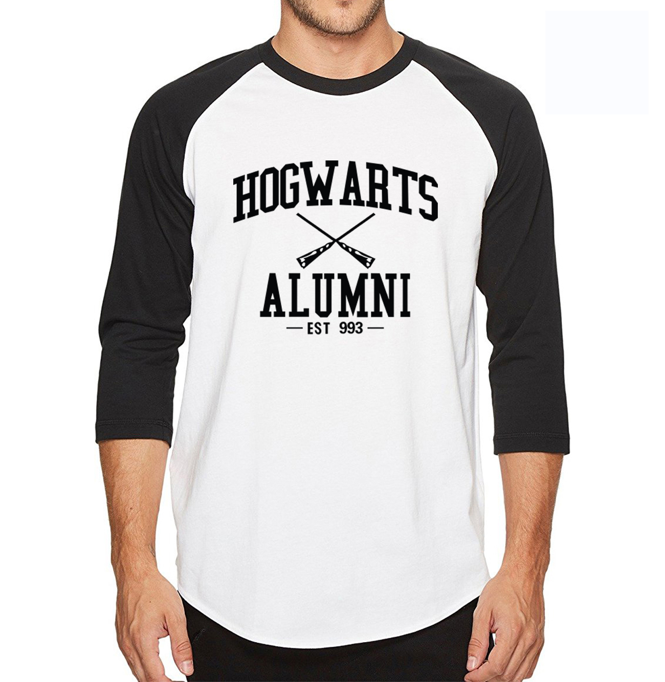 2018 summer Hogwarts Inspired Magic Alumni raglan t shirts men 100% cotton 3/4 sleeve men t-shirt movie fans Camisetas Hombre