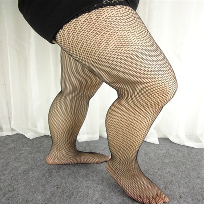 Free Shipping Plus Size 2018 New Sexy Stockings Women 1Pair  Women Girls Lace Top Hollow Fishnet Thigh High Stockings