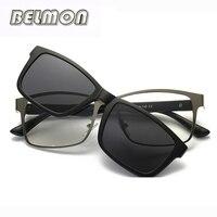 Оптические очки кадр мужчины женщины клип на магнитах поляризационные sungllasses близорукость очки оправы для мужской женский RS220