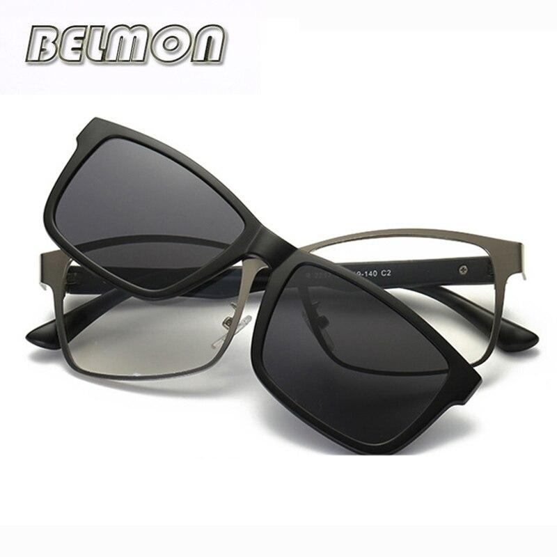 32f66b606a Gafas ópticas montura hombres mujeres Clip en imanes polarizados  Sungllasses miopía gafas marco para hombre mujer RS220 - a.sreelakodali.me