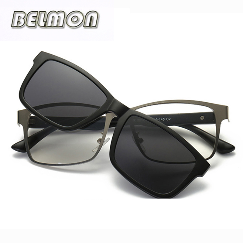 Optical Eyeglasses Frame Men Women Clip On Magnets Polarized Sungllasses Myopia Glasses Spectacle Frame For Male