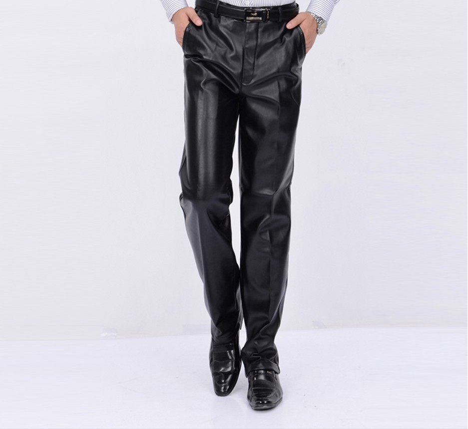 Free Shipping !!! Middle-aged Men's Motorcycle Windproof Waterproof Oil Warm Thick Velvet Leisure Big Yards Pants