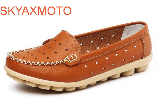 2017 Summer New Fashion PU Leather Women Flats Moccasins Comfortable Woman Shoes Cut-outs Leisure Flat Woman Casual Shoes ST181 free shipping usb sh koyo sh series usb plc programming cable