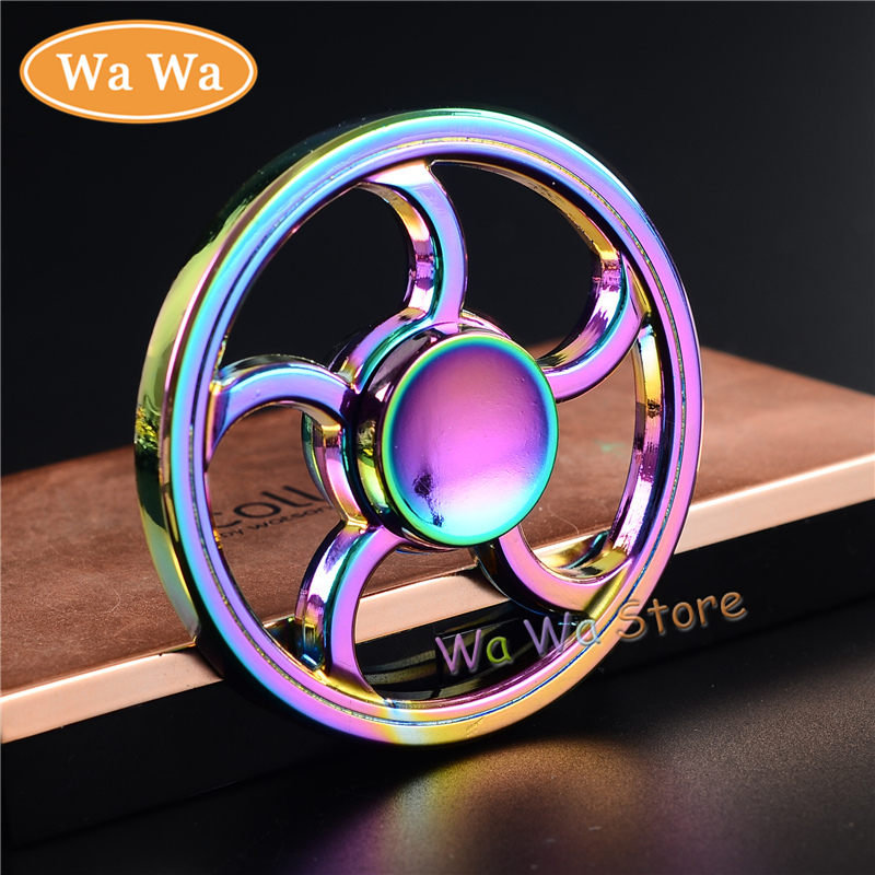 Colorful Rounded Hot Selling EDC Toys Triangular Hand Spinner Metal Professional Fidget Spinner Autism and ADHD