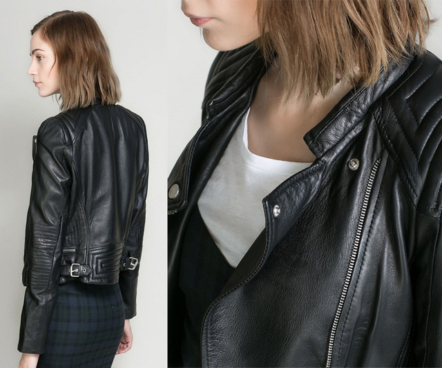 Faux Soft Leather Jackets Black Blazer Zippers Coat Motorcycle ...