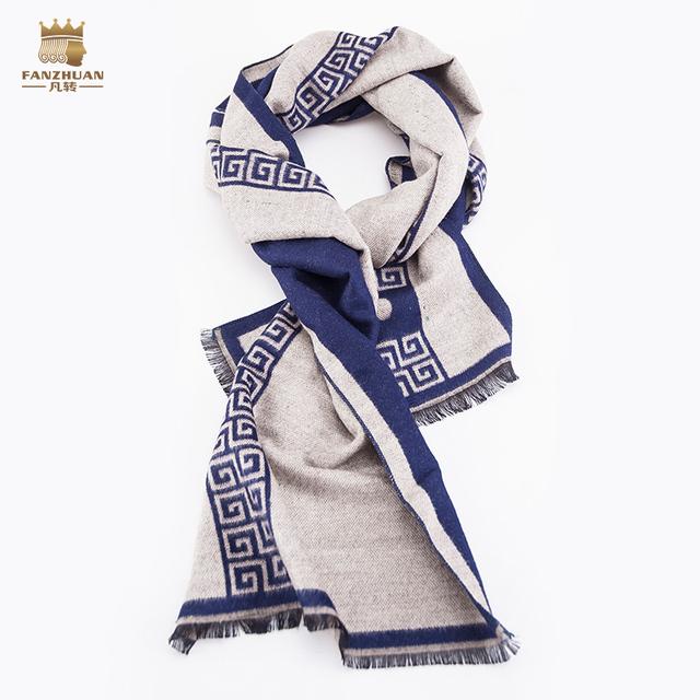 Nuevo Envío de la manera Mens masculinos Europa Corte nueva ropa de los hombres de negocios de Invierno cepillado Bufanda a cuadros bufanda 603003 Británico