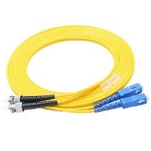 цена на 10pcs SC/UPC to ST/UPC Optical Fiber Patch Cable Singlemode Duplex Fiber 3.0mm PVC 3Meters Fiber optic jumper cable sc-st