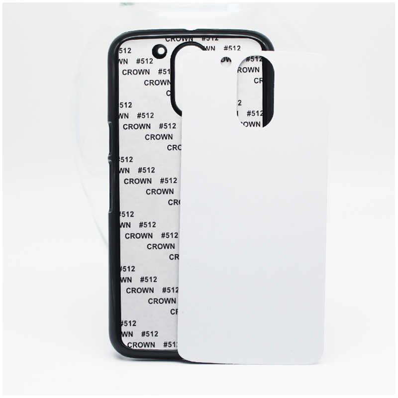 ل MOTO G4 & G4 PLUS 2D التسامي PC هاتف بلاستيك صلب حافظة لتقوم بها بنفسك نقل الحرارة غطاء عادي بدون كتابة أو صور أسود أبيض وألوان واضحة