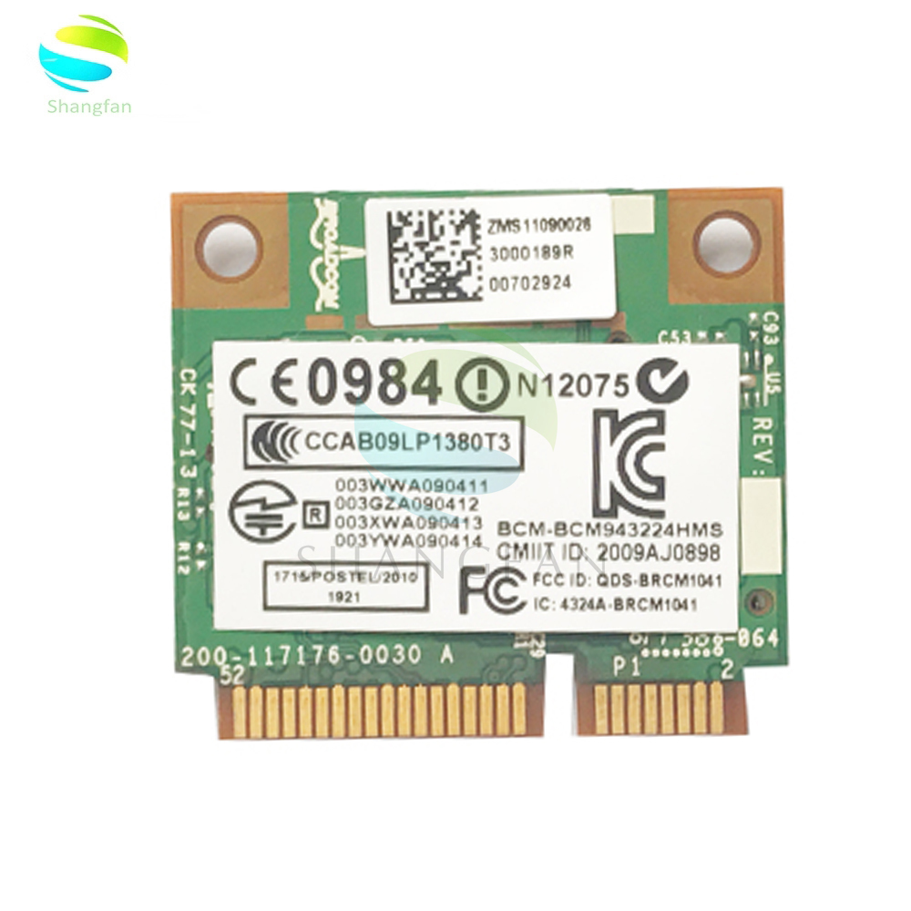 For Broadcom BCM943224HMS 2.4G&5G Mini PCI-e 300Mbps 802.11a/g/n Wireless Network Card SP: 582564-001 For HP 2540p 8460p