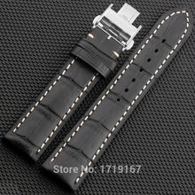 New Cowhide Leather Watch Strap 18 19 20 21 22 mm Watche band Belt  Watchband With folding Clasp / Buckle For Pam For Pilot цена 2017