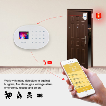 KERUI WIFI GSM Smart Home Security Alarm System RFID APP Control Wireless Smoke Detector Sensor Burglar Surveillance IP Camera 5