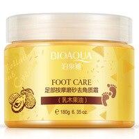 BIOAQUA Shea Butter Voetcrème Chinese Kruiden voet scrub massage Crème Exfoliërende Voeten Crème Voetverzorging Dode Huid Verwijderen Glad