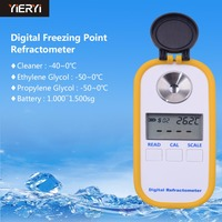 yieryi 100% New Brand Mini DR603 Digital Refractometer Coolant Car Engine Freezing Point For Glycol Concentration Testing Tool