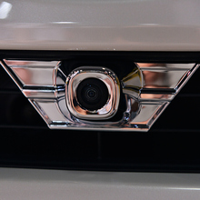 For Toyota RAV4 2016 2017 2018 ABS Chrome Car front Camera Decoration strip Accessories Trim sticker Auto Cover car styling 1pcs taiyao car styling sport car sticker for toyota 2013 2018 rav4 hybrid sapphire car accessories and decals auto sticker
