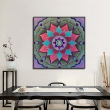 New Mandala Totem Lotus Canvas Painting Spray Decorative Paintings for Living Room Modern Home Decor Wall Art Pictures No Framed