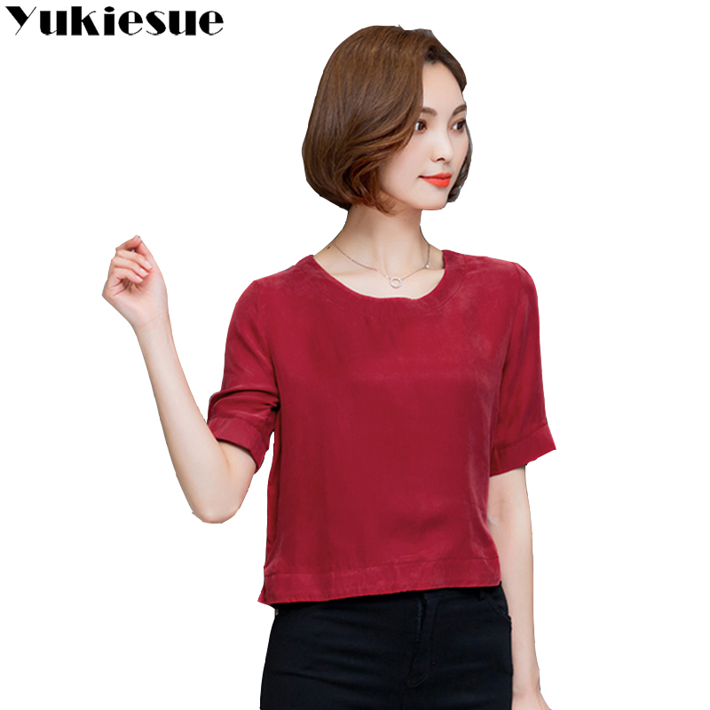 Cupro Talla Blosas Xxxl Camisa green orange Camisas wine Mujer Blue Ropa yellow Dark Red Red Femenina Madre white Blusas rose 2018 Y Seda Tops Mujeres Grande Blusa Top 56aqW8wY
