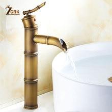 ZGRK Basin Faucets Bath Antique Finish Brass Water Tap Bathroom Sink Faucet Vanity Wash Mixer Taps