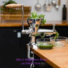 Connector  Hand wheat Grass Juicer  Steel manual Auger Slow Juice Ideal for Fruit  Vegetables Wheatgrass  juice extractor