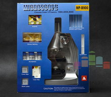 Free shipping Biological Microscope 100x,400x,900x Children Gift Microscope Illuminated LED Microscope for Kids to Learn Science