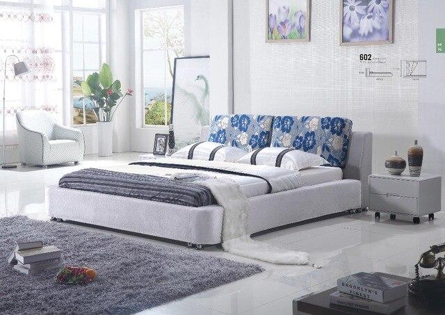 Muebles de dormitorio de estilo europeo últimos diseños cama doble ...