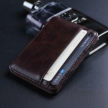 Волшебные кошельки Carteira Masculina корейские карманные бумажники для банкнот Carteras Hombre Кожаный Кофе дизайнер Волшебный держатель для карточек для мужчин