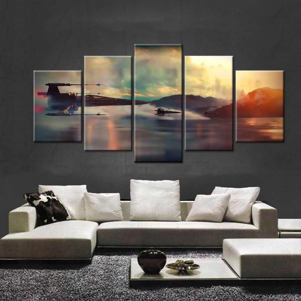 Fashion Framed Wall Decorations 5pcs / Set Modern Movie Air plane poster Canvas Print Artist Canvas Decoration/11Y-ZT-77