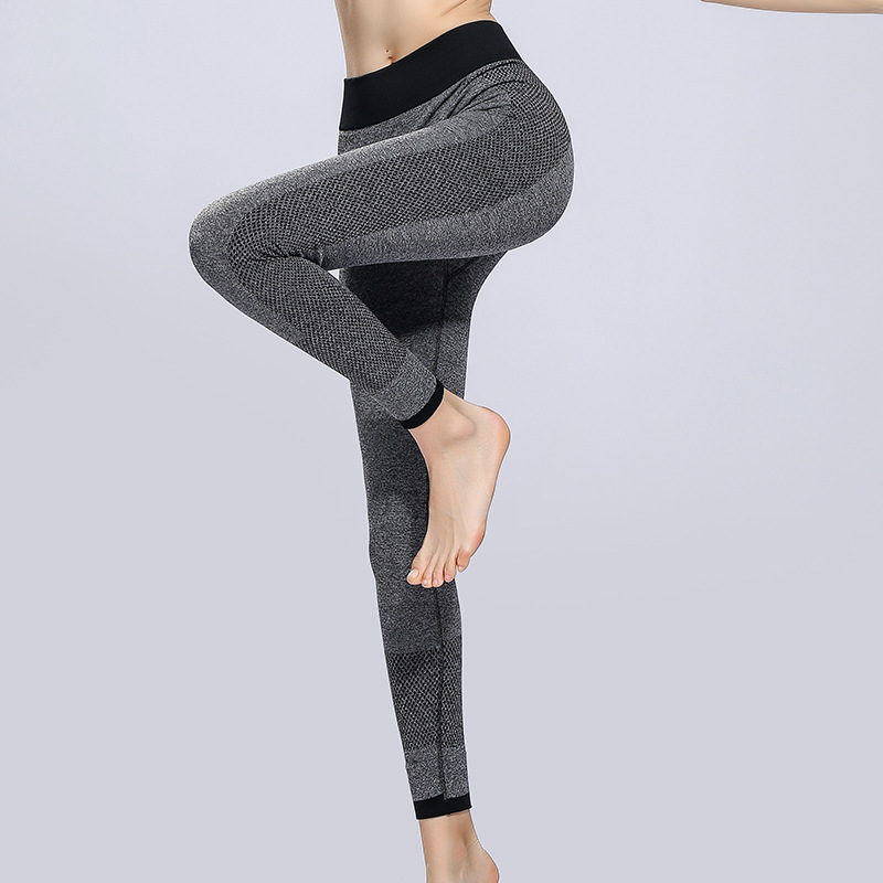 2018 Sport Leggings High Waist Sports Pants Gym Clothes Running Training Tights Women Sports Leggings Fitness Yoga Pants chic high waist hit color sport pants for women