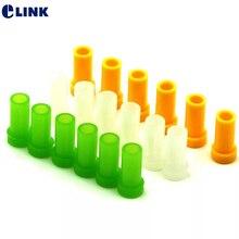 200 adet fiber optik SC için toz kapağı SC ST FC 2.5mm bağlayıcı şeffaf yeşil sarı SC tozluk koruyucu ücretsiz kargo ELINK