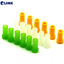 200pcs fiber optic SC dust cap for SC ST FC 2.5mm connector transparent green yellow SC dust cover protector free shipping ELINK