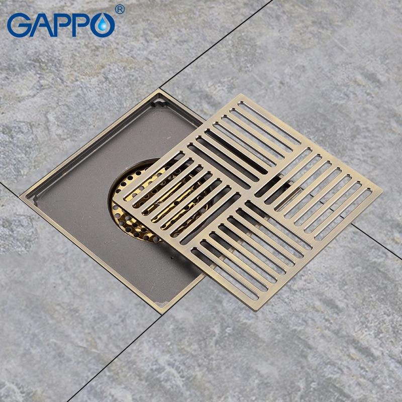 GAPPO Drains Anti-odeur sol salle de bain drain douche sol drains salle de bains bouchons douche drain bouchons