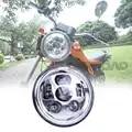 DOT SAE E MARK Goedkeuring Motorfiets Voorlamp Voor Trike 7 LED H4 Hi/Lo Beam Projector Koplamp voor motorbike