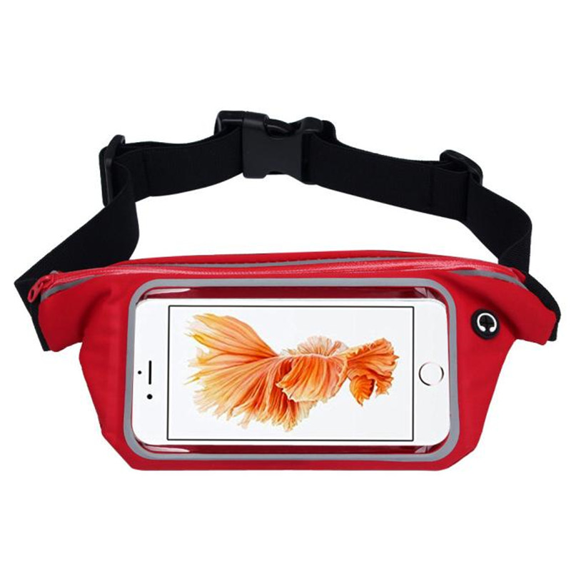 Outdoor Sports Running Waist Bag Utility Gym Fanny Pack Fitness Jogging Belt Bags 5.5 inch Cell Phone Pocket for Men Women #2a (1)