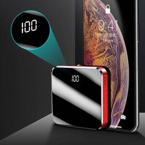 Image 4 - 20000mAh מיני נייד כוח בנק מראה מסך תצוגת LED Powerbank חיצוני סוללות Poverbank עבור חכם טלפון נייד