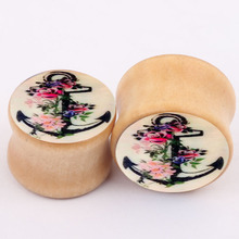 aliexpress new explosion of real wood bones ear piercing jewelry earrings expansion PLUG tunnels ear expander plugs body jewelry