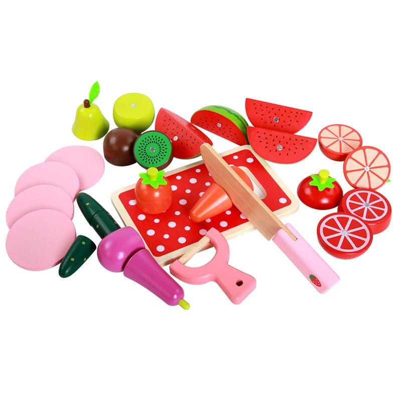 Jouets en bois pour enfants simulation découpe de fruits et légumes jouets de cuisine pour enfants Montessori éducation jouets en bois cadeaux