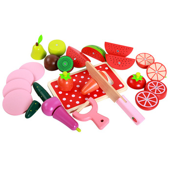 Wooden Kids toys simulation Cutting of fruits and vegetables kitchen toys for children Montessori education Wooden toys gifts individual experiences with montessori and traditional education