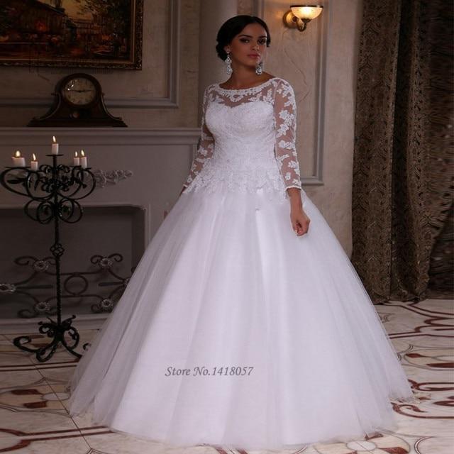 encaje blanco vestido de tallas grandes vestido de noiva para 2016
